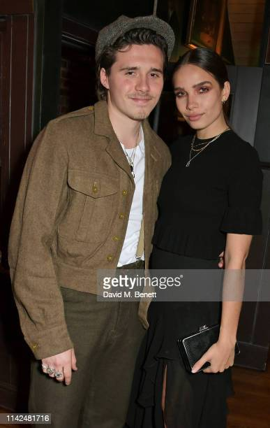 Brooklyn Beckham and Hana Cross attend the European Gala after party for Aladdin on May 9 2019 in London England