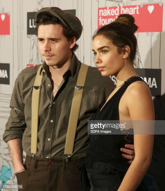 Brooklyn Beckham and Hana Cross attend the Fabulous Fund Fair as part of London Fashion Week event