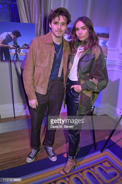 Brooklyn Beckham and Hana Cross attend the GQ Car Awards 2019 in association with Michelin at the Corinthia Hotel London on February 04 2019 in...