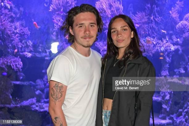 Brooklyn Beckham and Hana Cross attend the launch of Wonderland Magazine's Summer 2019 issue at Sexy Fish on July 1 2019 in London England