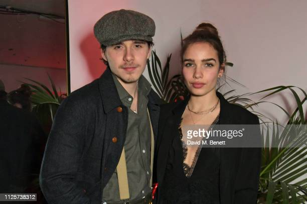 Brooklyn Beckham and Hana Cross attend the LOVE x The Store X party celebrating LOVE issue 21 supported by Perrier Jouet at The Store X on February...