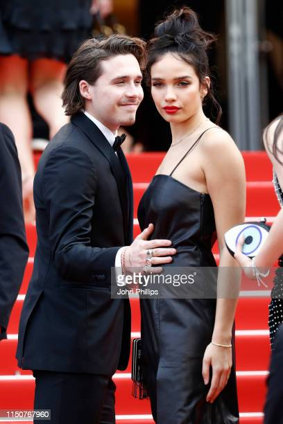 Brooklyn Beckham and Hana Cross attend the screening of Once Upon A Time In Hollywood during the 72nd annual Cannes Film Festival on May 21 2019 in...