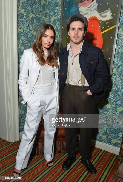 Brooklyn Beckham and Hana Cross attend the Victoria Beckham x YouTube Fashion Beauty After Party at London Fashion Week hosted by Derek Blasberg and...
