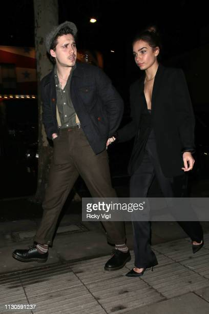 Brooklyn Beckham and Hana Cross seen attending London Fabulous Fund Fair at Roundhouse during LFW February 2019 on February 18 2019 in London England