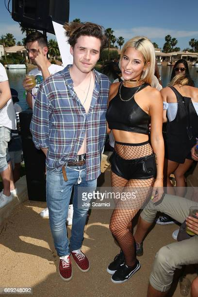 Brooklyn Beckham and Lexy Panterra attend the KALEIDOSCOPE REFRESH presented by Cannabinoid Water on April 16 2017 in La Quinta California