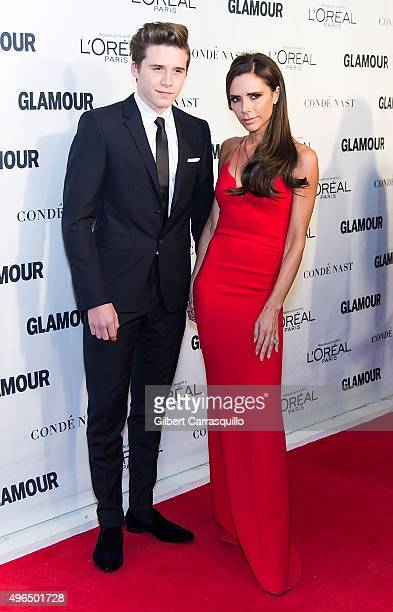 Brooklyn Beckham and mother fashion designer/singer Victoria Beckham attend Glamour's 25th Anniversary Women Of The Year Awards at Carnegie Hall on...