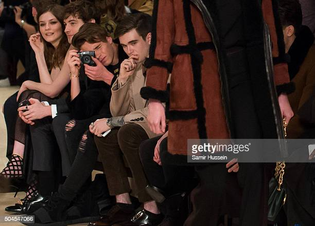 Brooklyn Beckham as Gabriel DayLewis looks on during the runway at the Burberry show during The London Collections Men AW16 at Kensington Gardens on...