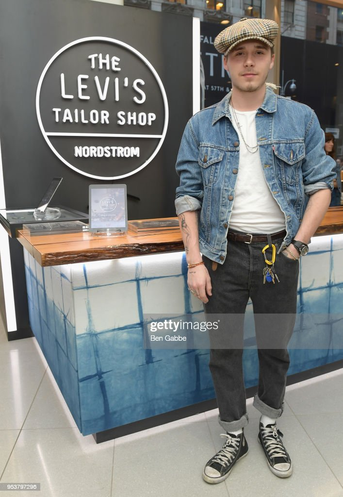 Brooklyn Beckham attends Levi's Tailor Shop Launch Event At Nordstrom Men's Store NYC Hosted By Brooklyn Beckham on May 1, 2018 in New York City.