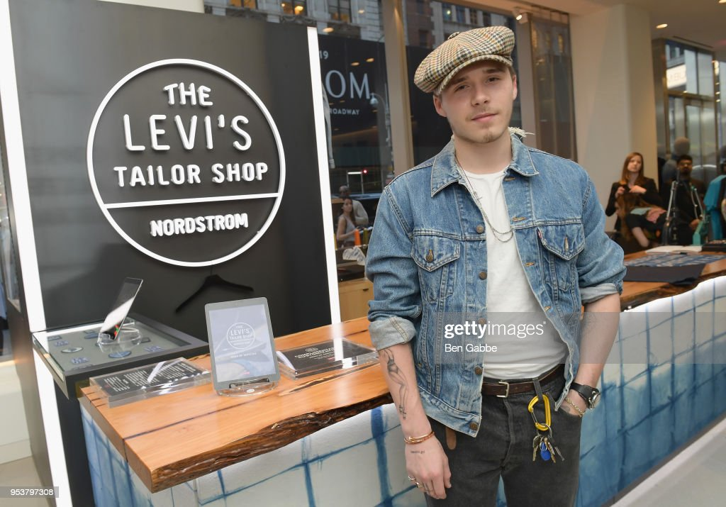 Levi's Tailor Shop Launch Event At Nordstrom Men's Store NYC Hosted By Brooklyn Beckham