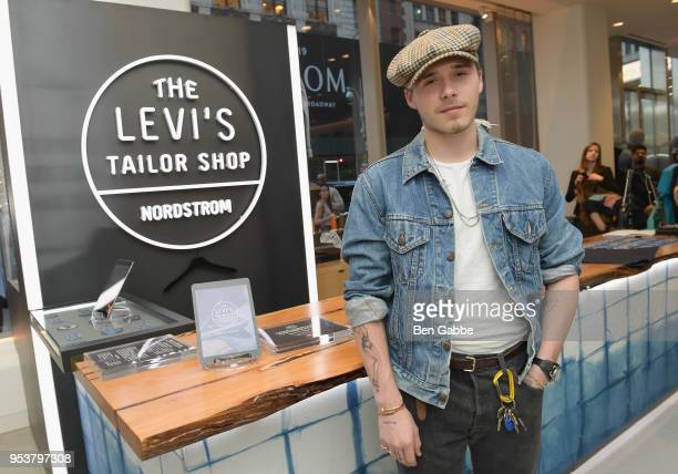 Brooklyn Beckham attends Levi's Tailor Shop Launch Event At Nordstrom Men's Store NYC Hosted By Brooklyn Beckham on May 1 2018 in New York City