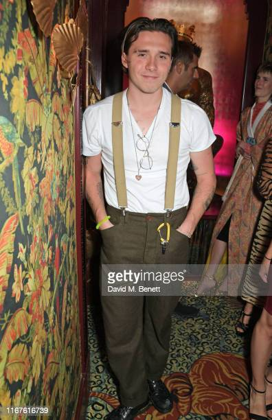Brooklyn Beckham attends the Agent Provocateur AW19 campaign launch party in collaboration with Sink The Pink and CIROC Vodka at Annabel's on...