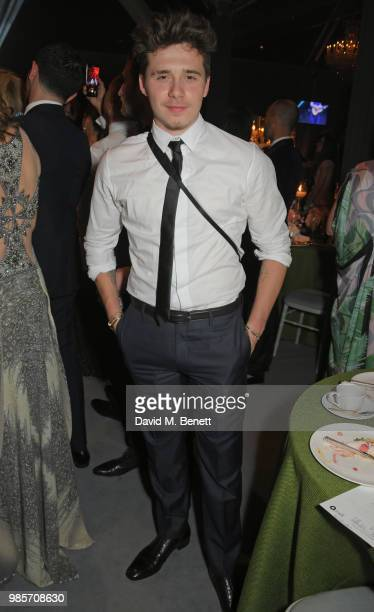 Brooklyn Beckham attends the Argento Ball for the Elton John AIDS Foundation in association with BVLGARI Bob and Tamar Manoukian on June 27 2018 in...
