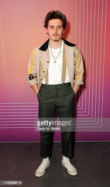 Brooklyn Beckham attends the Christian Louboutin Wonderland launch of 'Run Loubi Run' at Unit London on February 15 2019 in London England