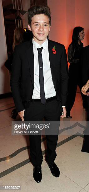Brooklyn Beckham attends the Harper's Bazaar Women of the Year awards at Claridge's Hotel on November 5, 2013 in London, England.