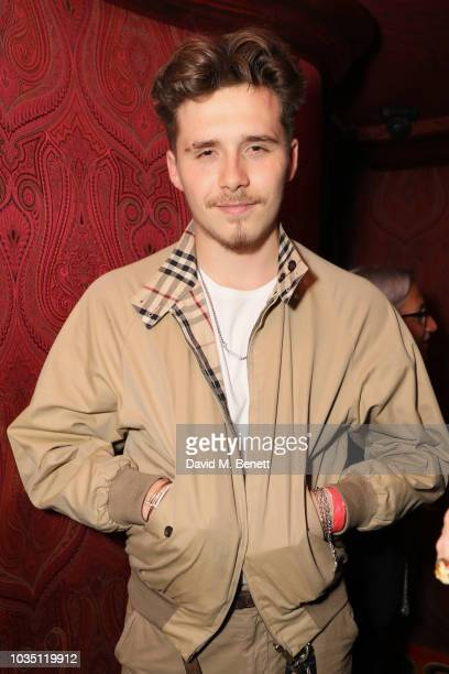 Brooklyn Beckham attends the LOVE Magazine 10th birthday party with PerrierJouet at Loulou's on September 17 2018 in London England