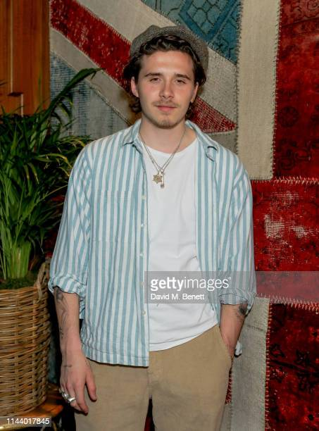 Brooklyn Beckham attends the Man About Town magazine issue launch at Novikovon May 15 2019 in London England