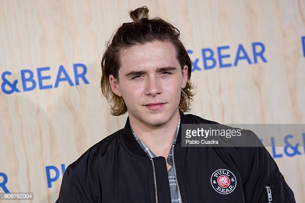 Brooklyn Beckham attends the opening of the new PullBear ecofriendly headquarters on September 22 2016 in Naron Spain