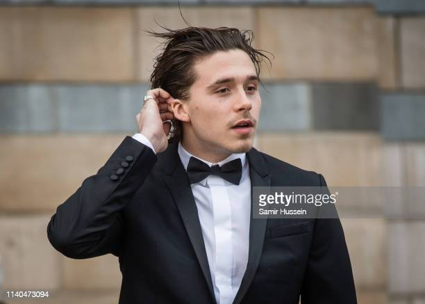 Brooklyn Beckham attends the Our Planet global premiere at Natural History Museum on April 04 2019 in London England