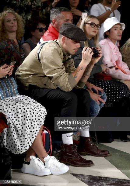 Brooklyn Beckham attends the Pam Hogg Show during London Fashion Week September 2018 at Freemasons Hall on September 14 2018 in London England