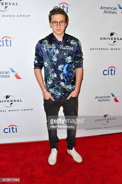 Brooklyn Beckham attends Universal Music Group's 2016 GRAMMY after party at The Theatre At The Ace Hotel on February 15 2016 in Los Angeles California