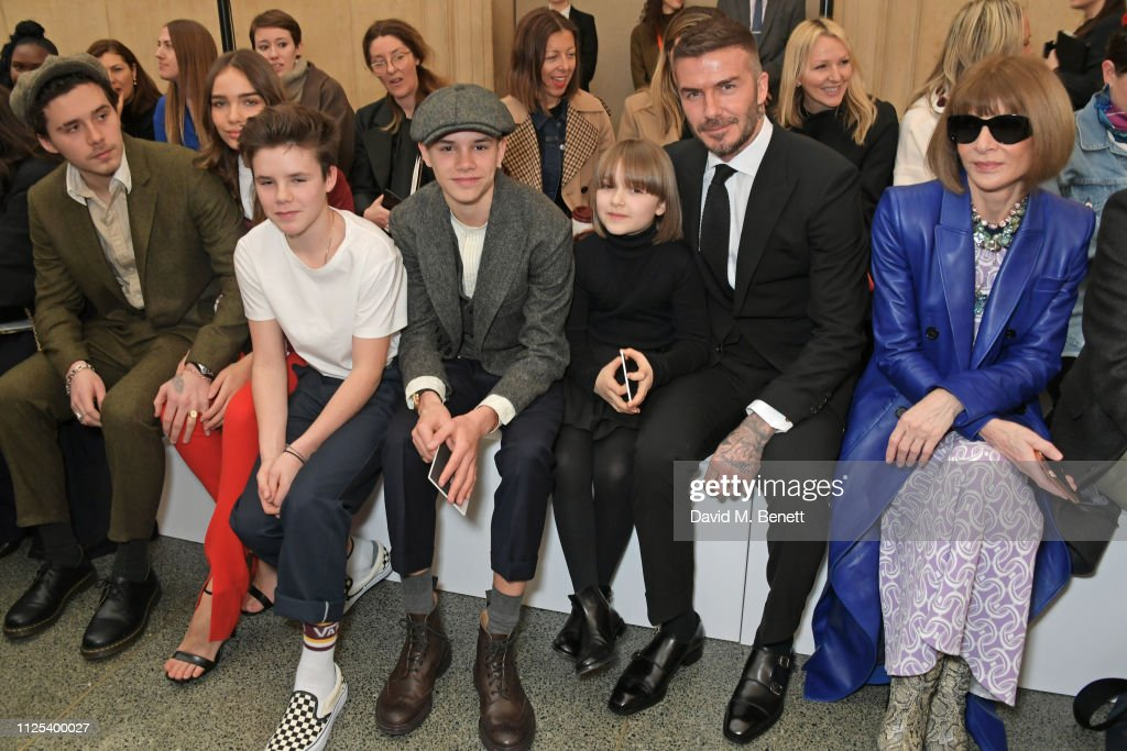 GBR: Victoria Beckham - Front Row - LFW February 2019