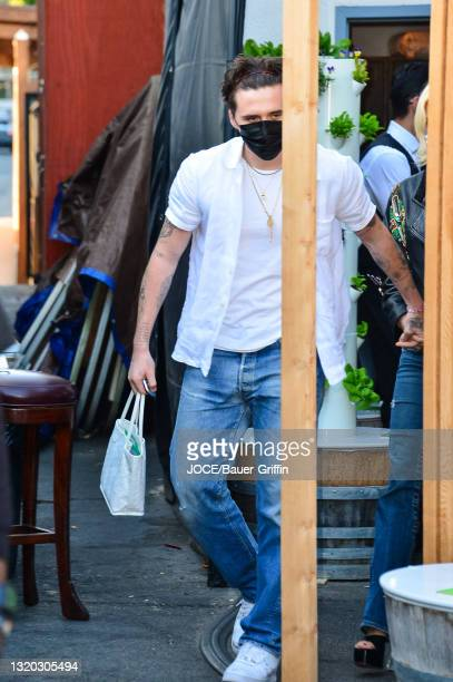 Brooklyn Beckham is seen on May 26, 2021 in Los Angeles, California.