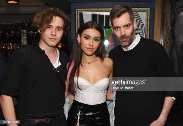 Brooklyn Beckham Madison Beer and Huw Gwyther attend the Wonderland Summer Issue dinner hosted by Madison Beer at The Ivy Soho Brasserie on June 5...