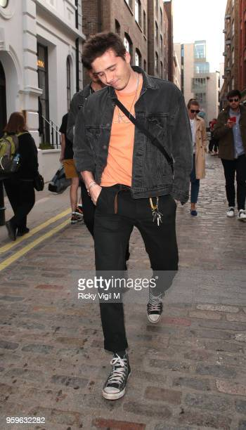 Brooklyn Beckham out and About in Covent Garden with a friend on May 17 2018 in London England