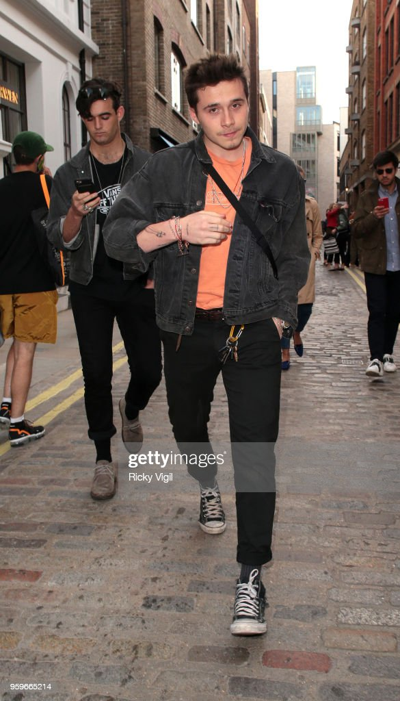 Brooklyn Beckham seen in Covent Garden on May 17, 2018 in London, England.