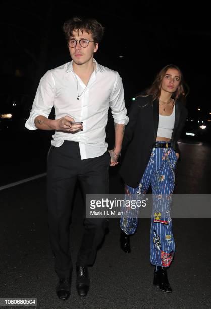 Brooklyn Beckham sighting on December 10 2018 in London England