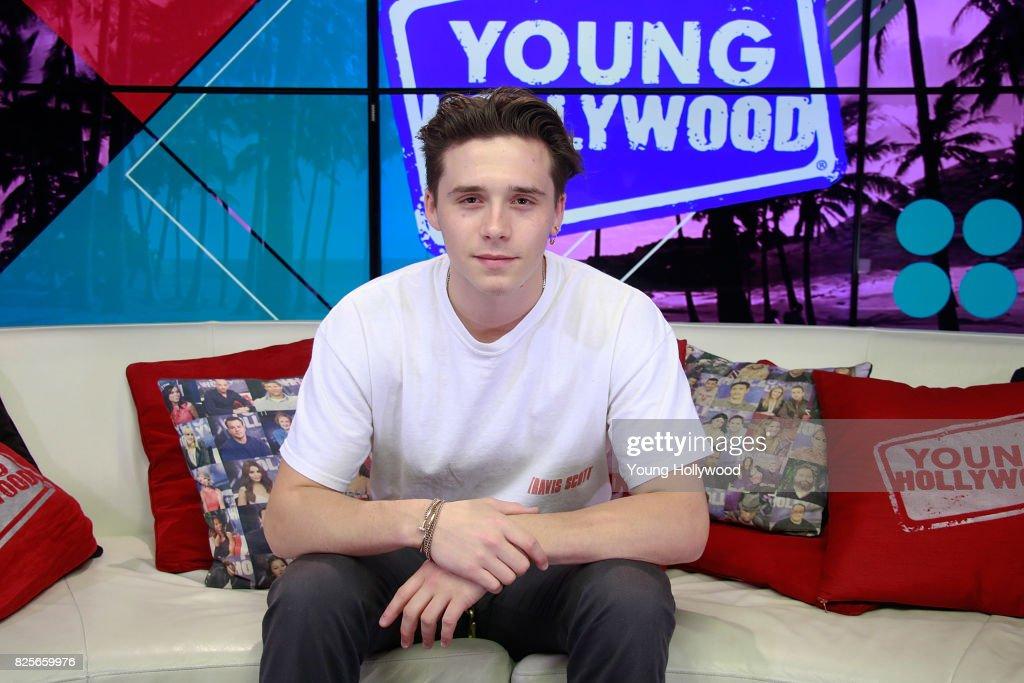 Brooklyn Beckham Visits Young Hollywood Studio