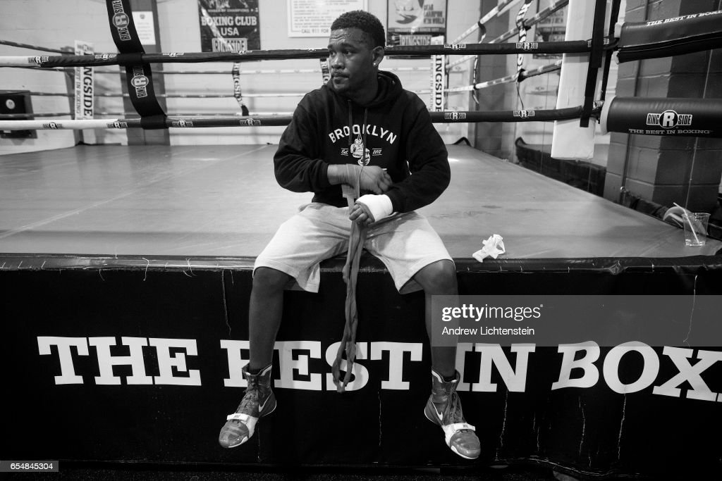 Brooklyn born middleweight boxer Daniel Jacobs trains at a gym and visits the neighborhood where he grew up in Brownsville on May 18, 2016 in Brooklyn, New York.