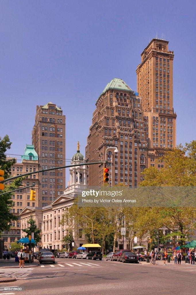 Brooklyn  Borough Hall, Joralemon St, New York, USA : Foto de stock