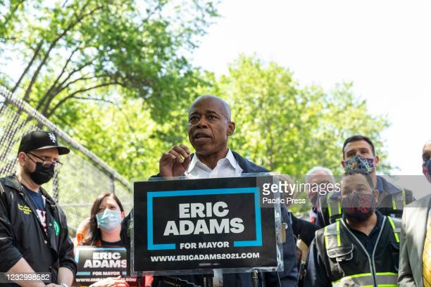 Brooklyn Borough President and Mayoral candidate Eric Adams addressed press to call for more effective deployment of NYPD in subways outside of West...