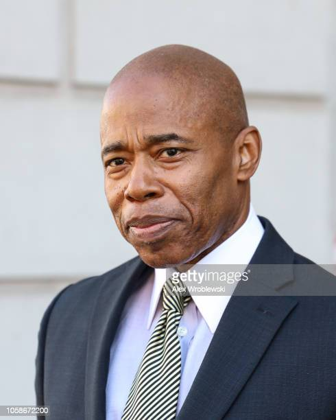 Brooklyn Borough President Eric Adams before holding a news conference regarding New York City's Midterm Elections polling stations issues on...