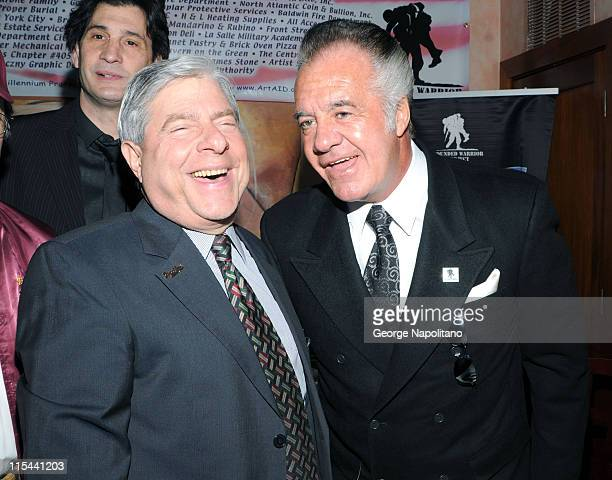 Brooklyn Borough President Marty Markowitz and actor Tony Sirico attends the Wounded Warrior Project Fundraiser at the Pearl Room on February 23 2009...