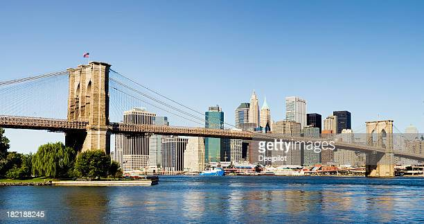 Pont de Brooklyn et Manhattan Skyline de la ville de New York, États-Unis