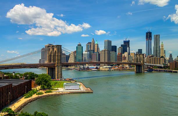 Brooklyn Bridge And Lower Manhattan Skyline Wall Art