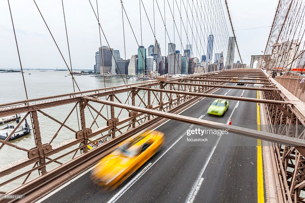 Brooklyn Bridge and Manhattan : Stock Photo