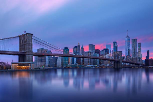 Brooklyn Bridge Manhattan Skyline Sunset - Fine Art prints