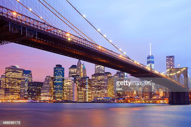 Pont de Brooklyn et Manhattan Skyline, New York