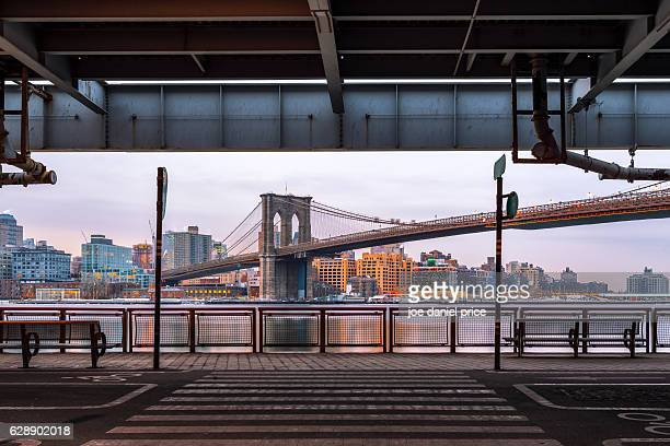 Brooklyn Bridge, East River, NYC, America