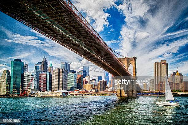 Brooklyn Bridge in NY city