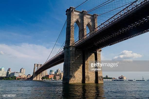 Brooklyn Bridge New York and East River