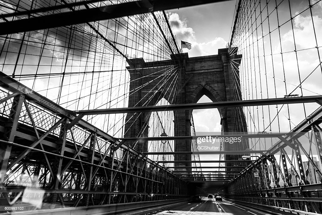 Brooklyn Bridge, New York City  : Stock-Foto