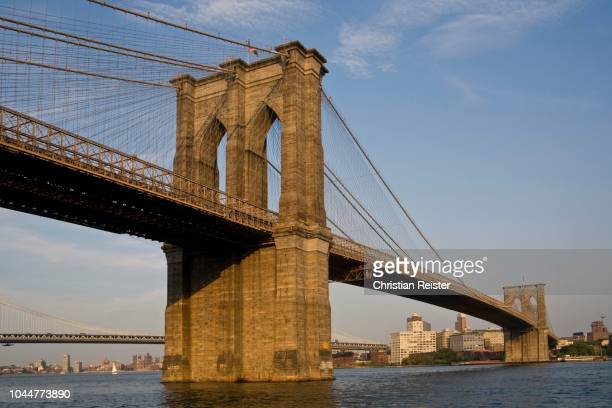 brooklyn bridge, new york city, usa - state stock pictures, royalty-free photos & images
