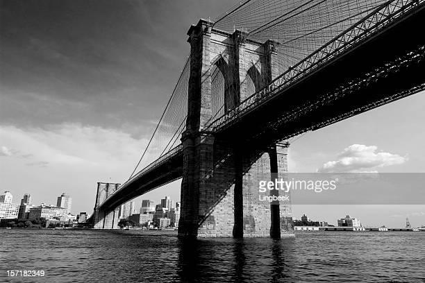 Brooklyn Bridge New York in Black and White