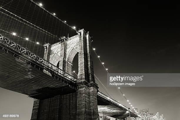Brooklyn bridge, night shot. New york city