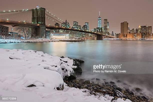 Brooklyn Bridge on winter