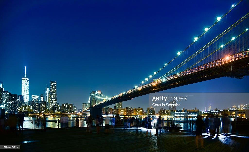 Brooklyn Bridge panorama : Stock-Foto